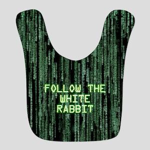 Follow the White Rabbit Bib