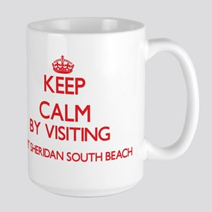 Keep calm by visiting Fort Sheridan South Bea Mugs