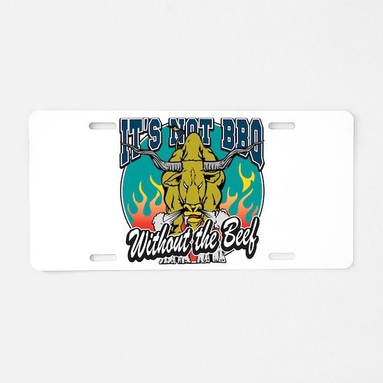 BBQ Beef Aluminum License Plate