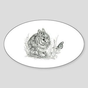 Bunny Sticker (Oval)