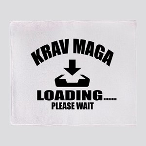 Krav Maga Loading Please Wait Throw Blanket
