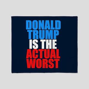 Anti Trump Worst Throw Blanket