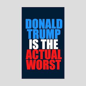 Anti Trump Worst Sticker (Rectangle)