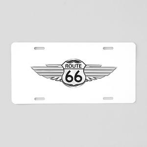 Route 66 Aluminum License Plate