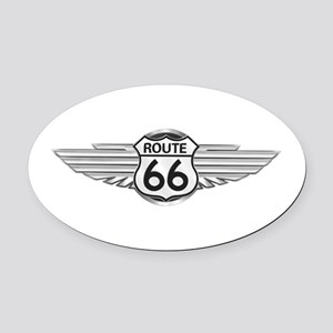Route 66 Oval Car Magnet
