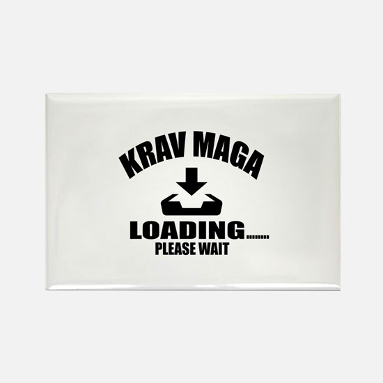 Krav Maga Loading Please Wait Rectangle Magnet