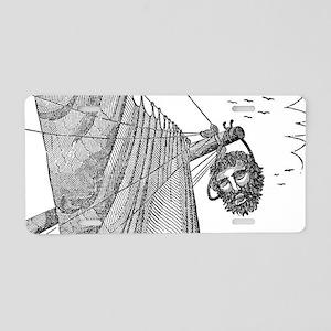 Blackbeard's Head Being hun Aluminum License Plate