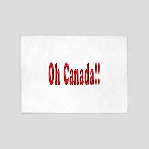 Oh Canada!! 5'x7'Area Rug