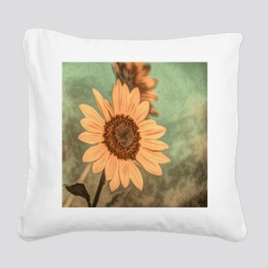 romantic summer watercolor su Square Canvas Pillow