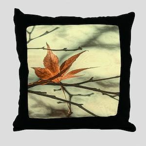 elegant autumn fall leaves Throw Pillow