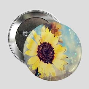 "romantic summer watercolor sunflower 2.25"" Button"