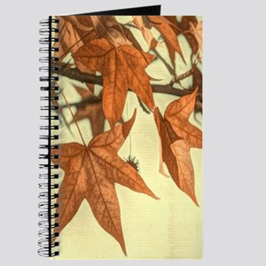 elegant autumn fall leaves Journal