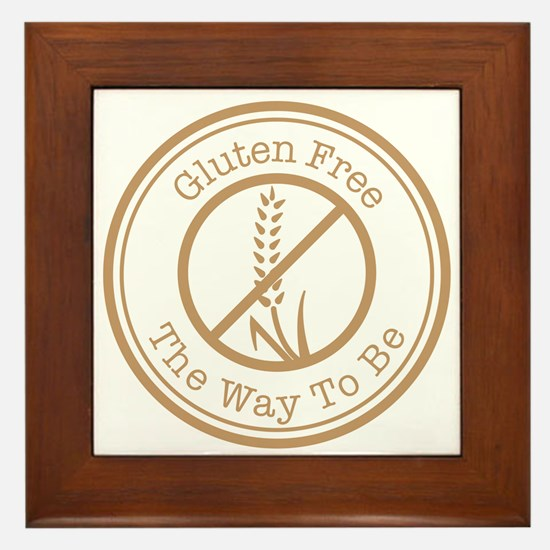 Gluten Free The Way To Be Framed Tile