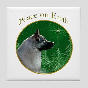 Elkhound Peace Tile Coaster