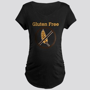 No Wheat  Maternity Dark T-Shirt