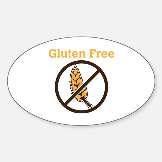 No Wheat  Sticker (Oval)