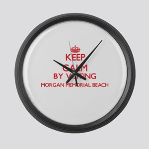Keep calm by visiting Morgan Memo Large Wall Clock