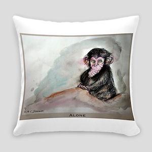 Baby chimp wildlife art Everyday Pillow