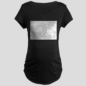 Vintage Map of Boston (1878) Maternity T-Shirt