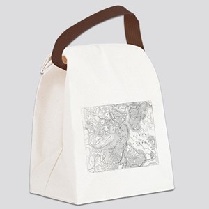 Vintage Map of Boston (1878) Canvas Lunch Bag
