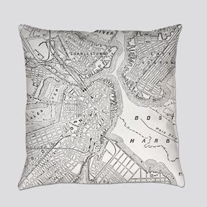 Vintage Map of Boston (1878) Everyday Pillow