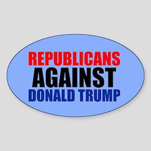 Anti Trump Republican Sticker (Oval)