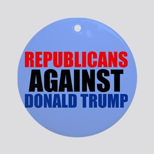 Anti Trump Republican Ornament (Round)