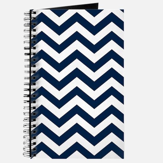 Blue, Navy: Chevron Pattern Journal