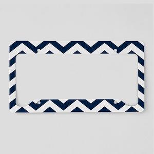 Blue, Navy: Chevron Pattern License Plate Holder