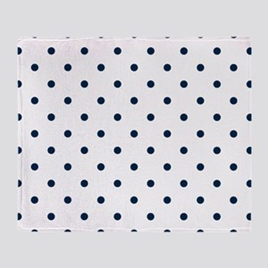 Blue, Navy: Polka Dots Pattern (Smal Throw Blanket