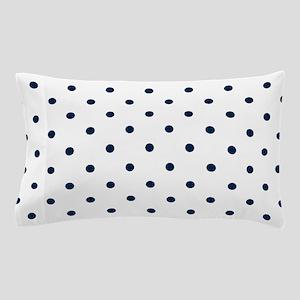 Blue, Navy: Polka Dots Pattern (Small) Pillow Case
