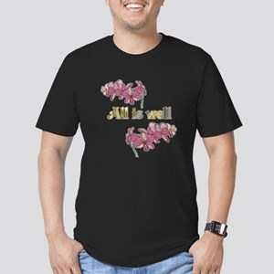 All is well-pink orchi Men's Fitted T-Shirt (dark)