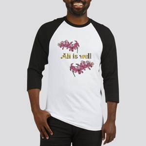All is well-pink orchids Baseball Jersey