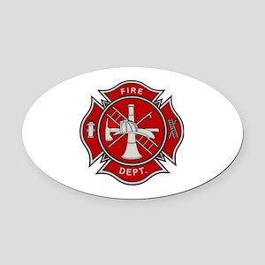 Fire Dept. Oval Car Magnet