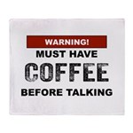 Must Have Coffee Throw Blanket