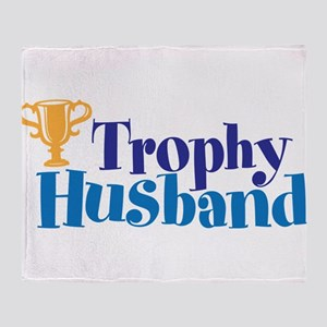 Trophy Husband Funny Valentine Throw Blanket