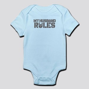 Funny Valentine My Husband Rules Body Suit