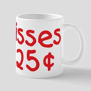 Funny Valentine Kisses 25 Cents Mugs