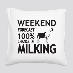Alpine Dairy Goat Weekend Forecast Square Canvas P