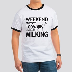 Alpine Dairy Goat Weekend Forecast T-Shirt