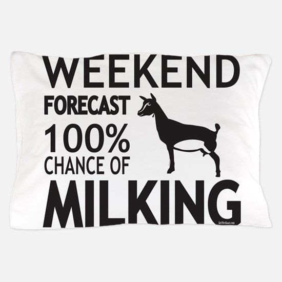 Nigerian Dwarf Dairy Goat Weekend Forecast Pillow