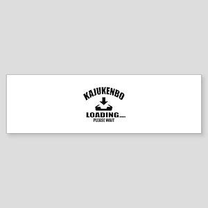 Kajukenbo Loading Please Wait Sticker (Bumper)
