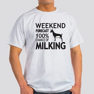 Nigerian Dwarf Dairy Goat Weekend Forecast T-Shirt
