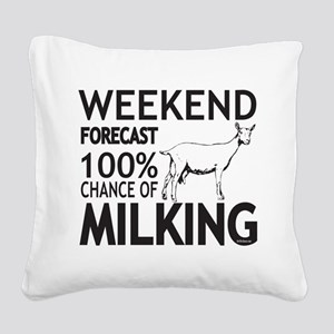 Saanen Dairy Goat Weekend Forecast Square Canvas P