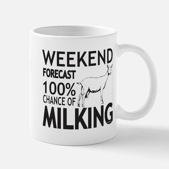 Saanen Dairy Goat Weekend Forecast Mugs