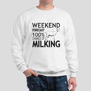 Saanen Dairy Goat Weekend Forecast Sweatshirt