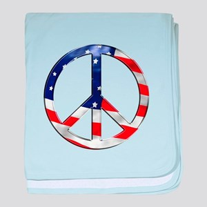 murica peace sign baby blanket