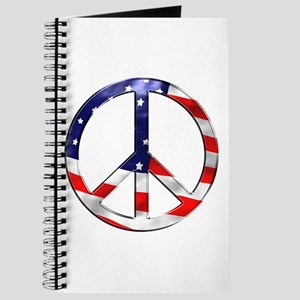 murica peace sign Journal