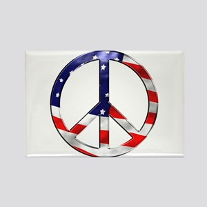 murica peace sign Magnets