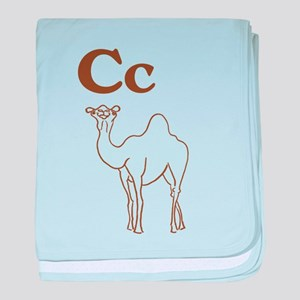 C is for Camel baby blanket